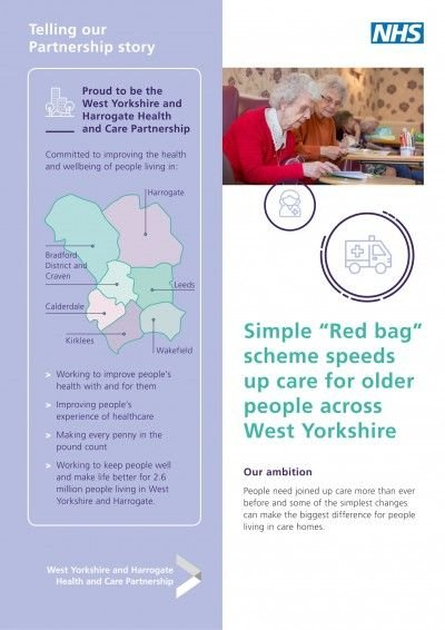 "Simple ""red bag"" scheme speeds up care for older people across West Yorkshire"