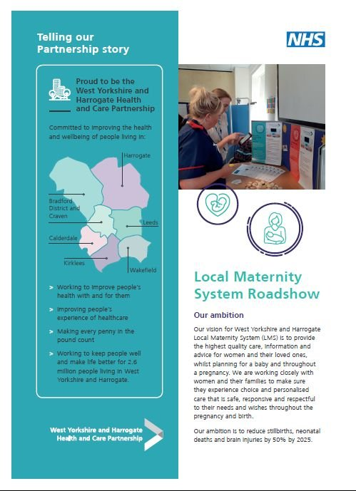 case study - local maternity system roadshows