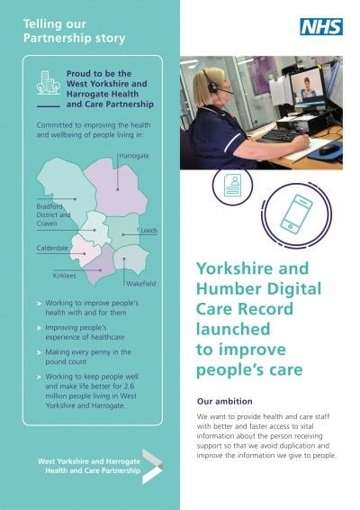 Yorkshire and Humber Digital Care Record launched to improve people's care