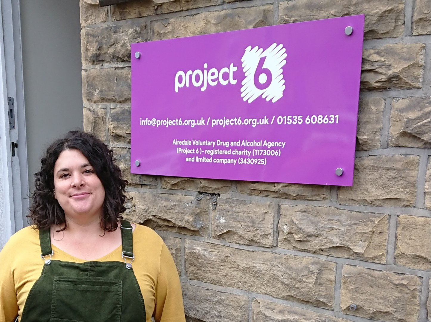 Vicki Beere outside Project 6